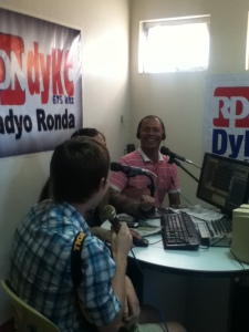 broadcasters interviewing Joel #pasensyaati